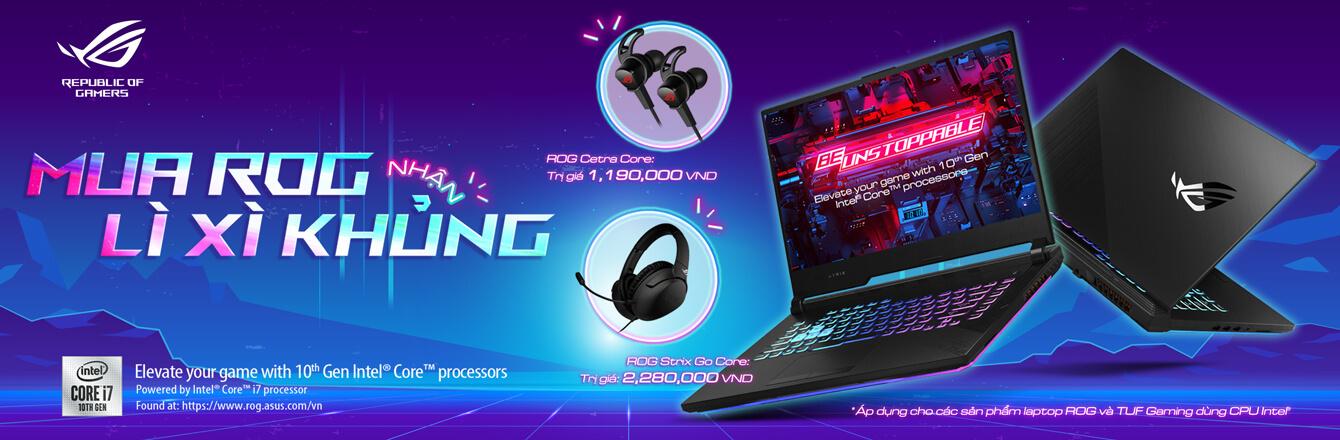 Laptop Asus Gaming tặng tai nghe