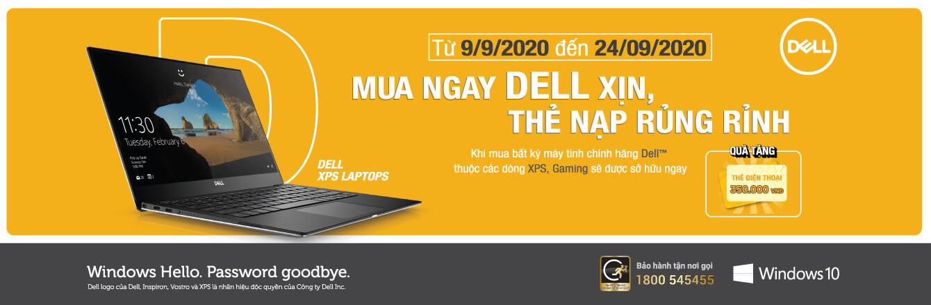 Laptop Dell thẻ điện thoại 350K