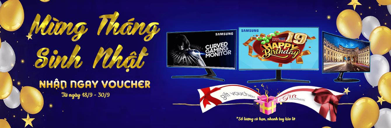 Màn hình Samsung mừng sinh nhật