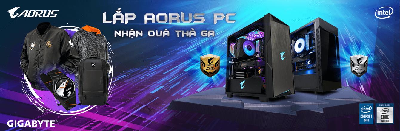 LKMT PC Aorus nhận quà