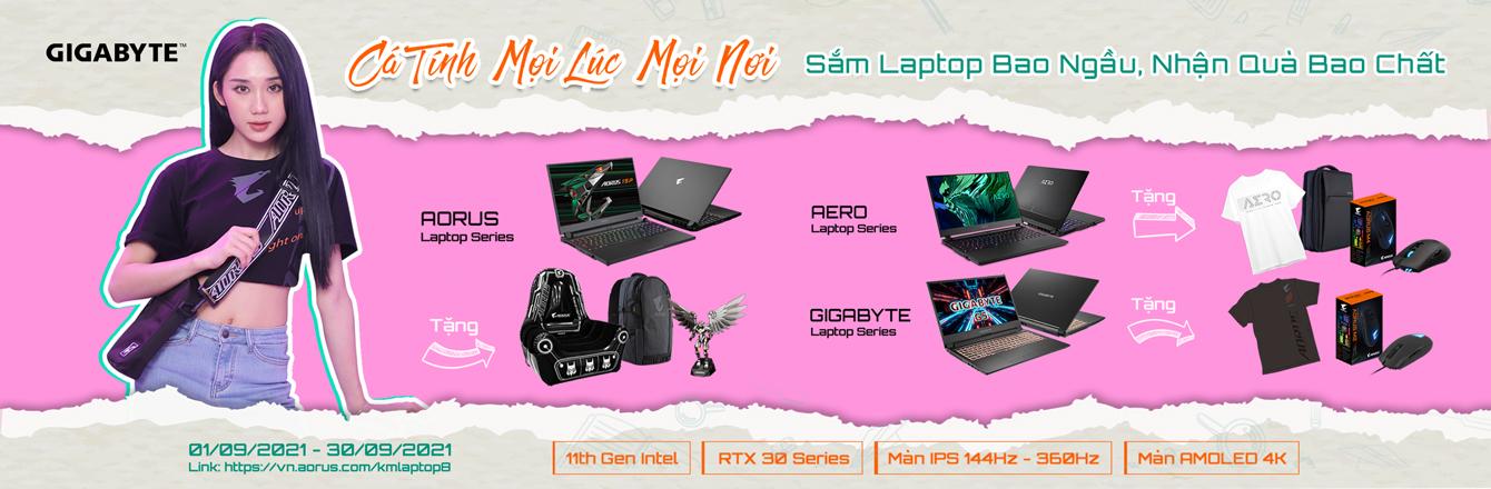 Sắm laptop gigabyte - slide