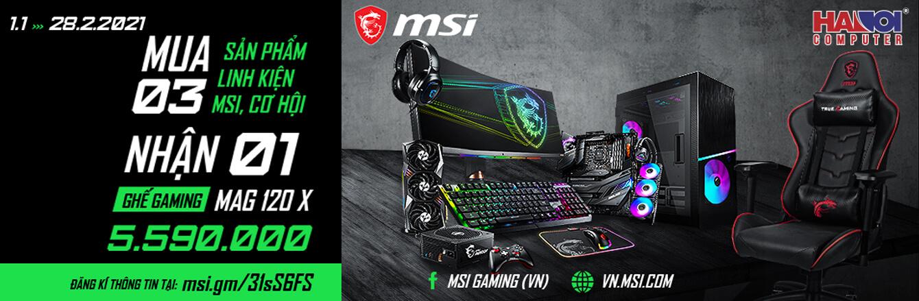 LKMT MSI bốc thăm trúng thưởng ghế gaming