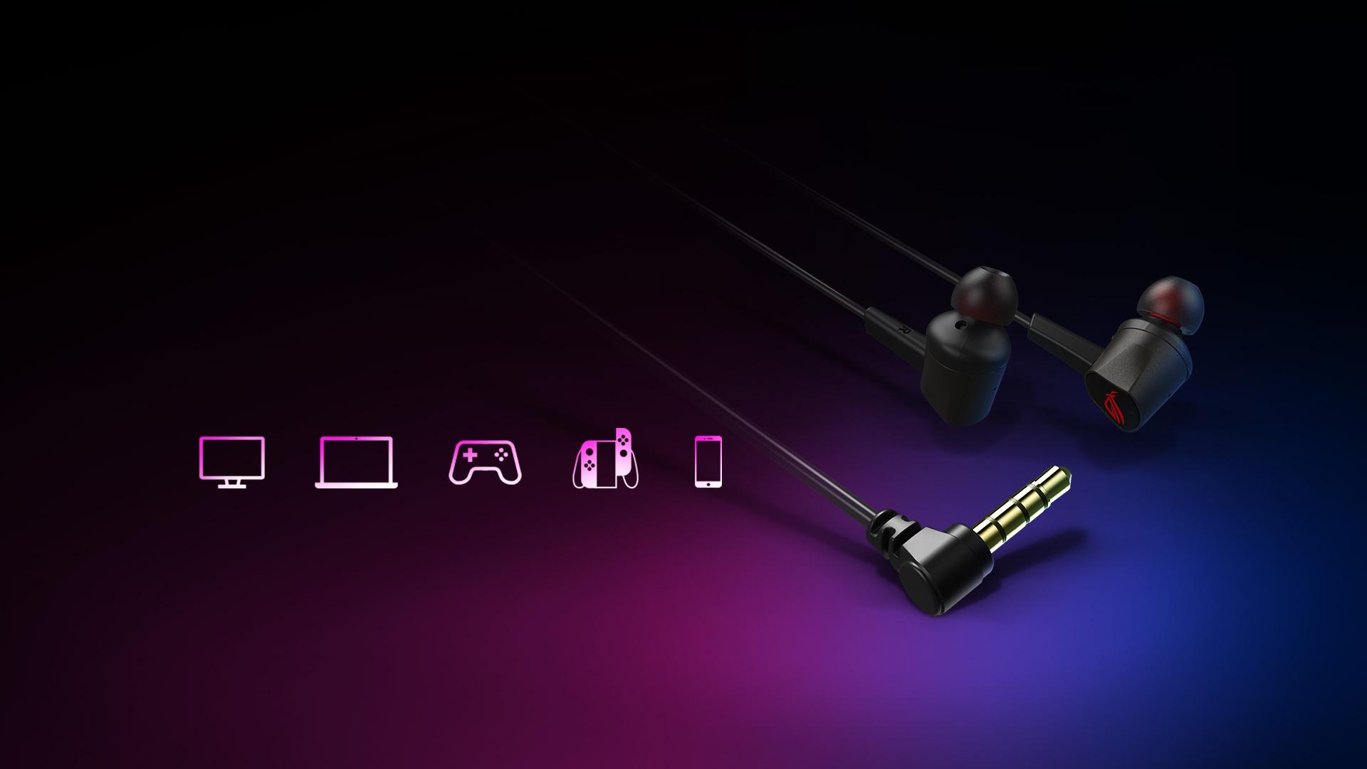 Tai nghe chơi game Asus ROG Cetra II Core tương thích với nhiều thiết bị