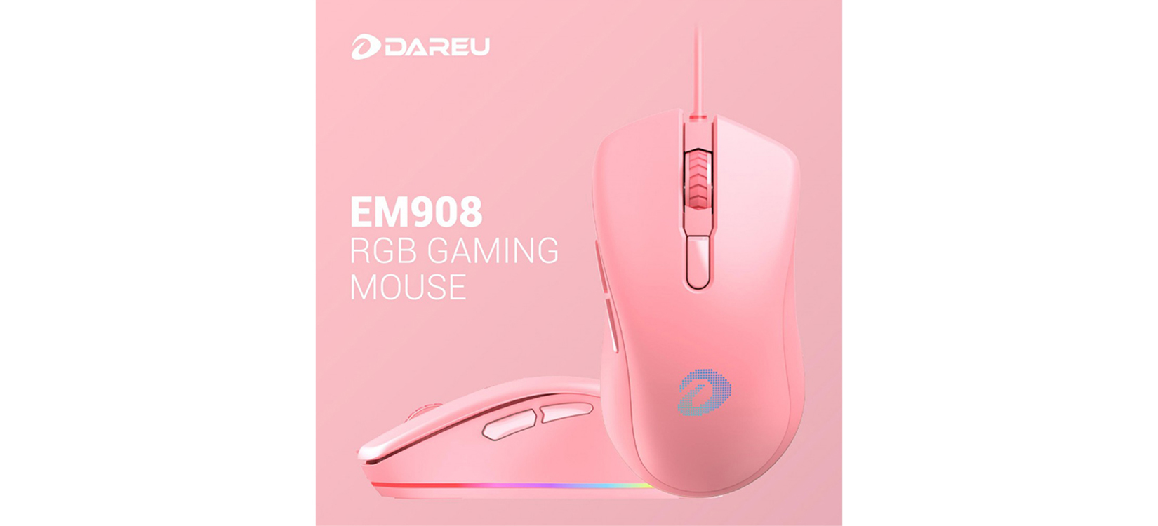 Chuột chơi game Dareu EM908 Pink (USB)