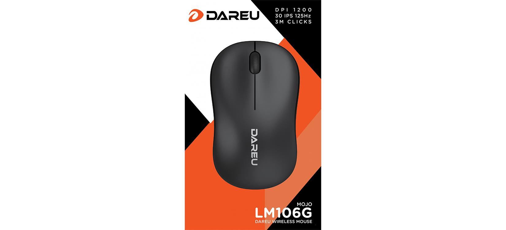 Chuột không dây Dareu LM106G Black