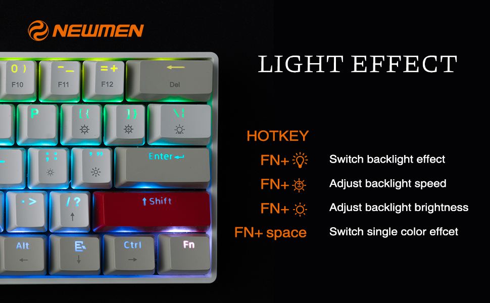 Bàn phím không dây Newmen GM610 RGB Dual mode