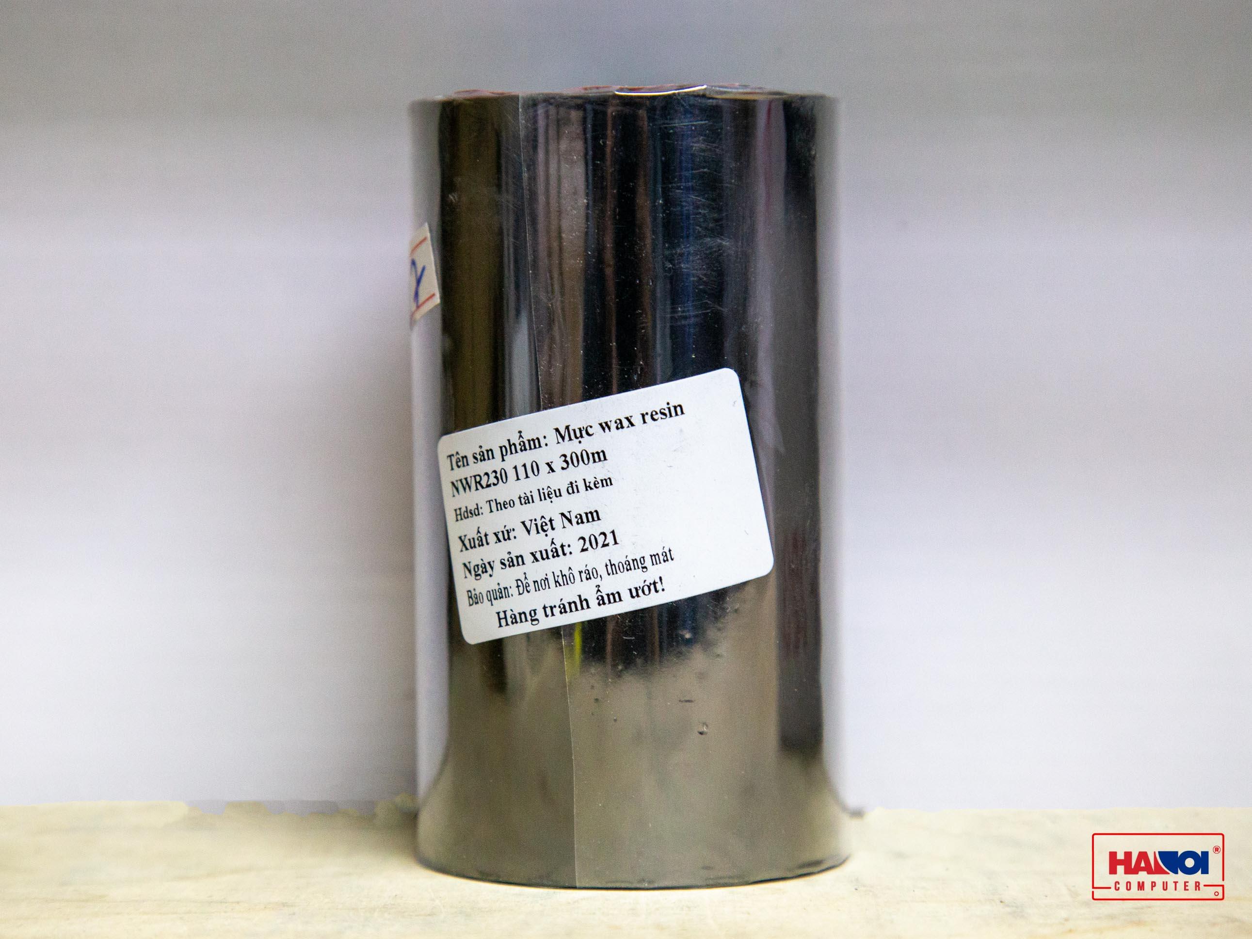 Ribbon in mã vạch Wax Resin NWR230_01