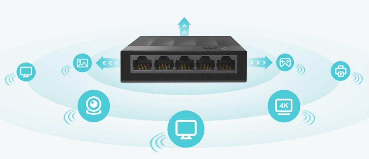 Switch TP-Link LS1005G 5 Port 10/100/1000Mbps vỏ nhựa