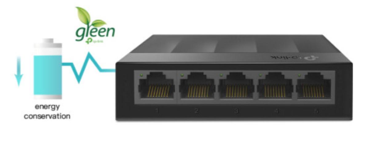 Switch TP-Link LS1005G 5 Port 10/100/1000Mbps tiết kiệm điện năng