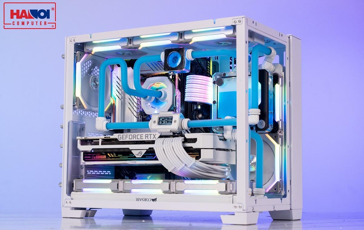 LIAN-LI PC - O11-Dynamic - Mini Snow White watercooling