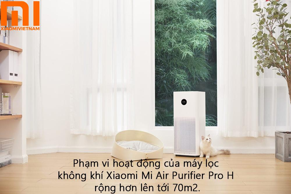 Máy lọc không khí Xiaomi Mi Air Purifier Pro H - phạm vi hoạt động