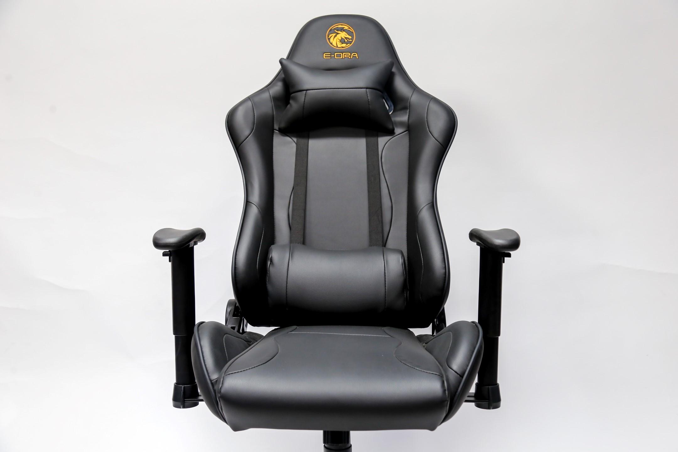 Ghế Gaming E-dra Mars EGC202 Black có phụ kiện đầy đủ
