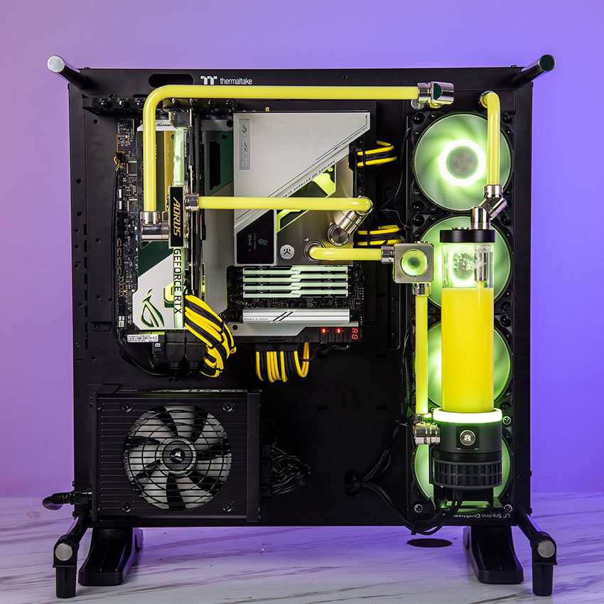 Vỏ Case Thermaltake Core P5 Tempered Glass Snow (Mid Tower/Màu Trắng)
