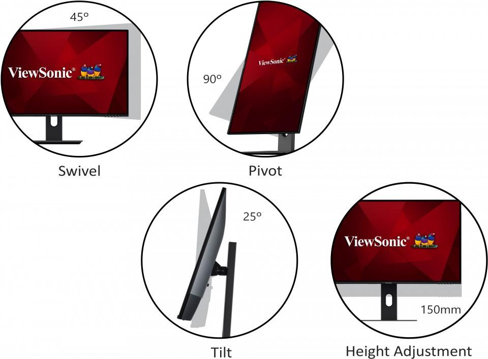 Màn hình Viewsonic VX2480-góc nhìn thoải mái