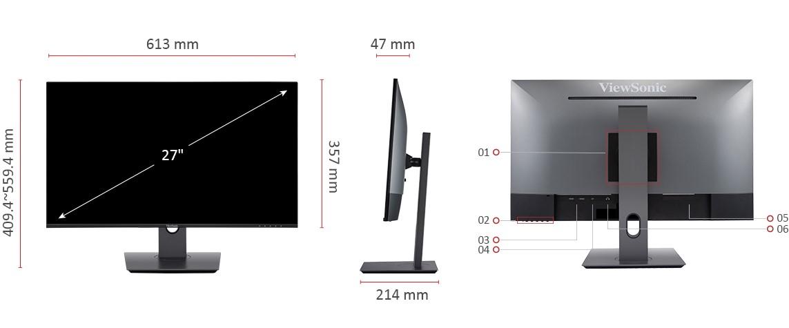 Màn hình Viewsonic VX2480-2K-kết nối