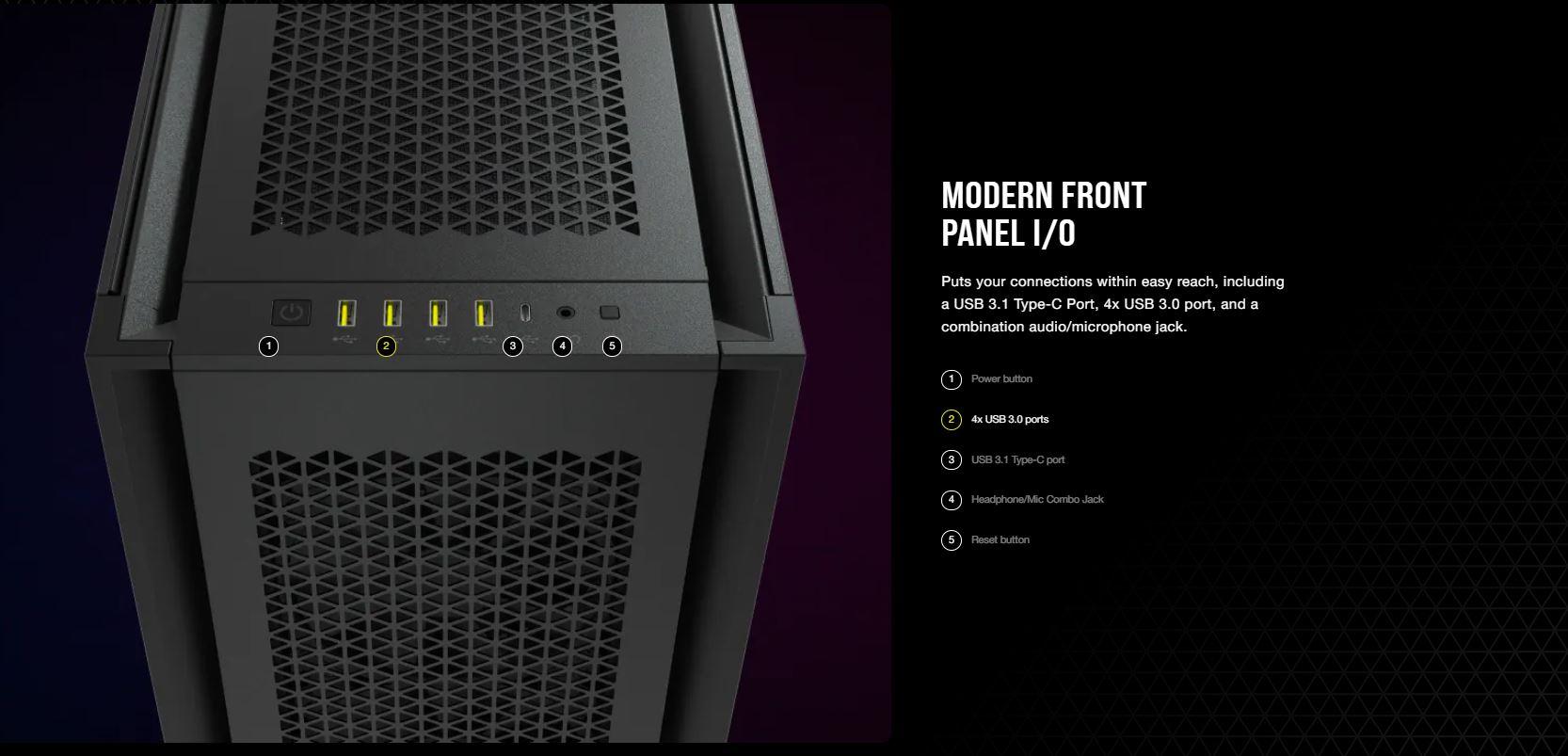 Vỏ máy tính Corsair 7000D Airflow TG White giới thiệu 6