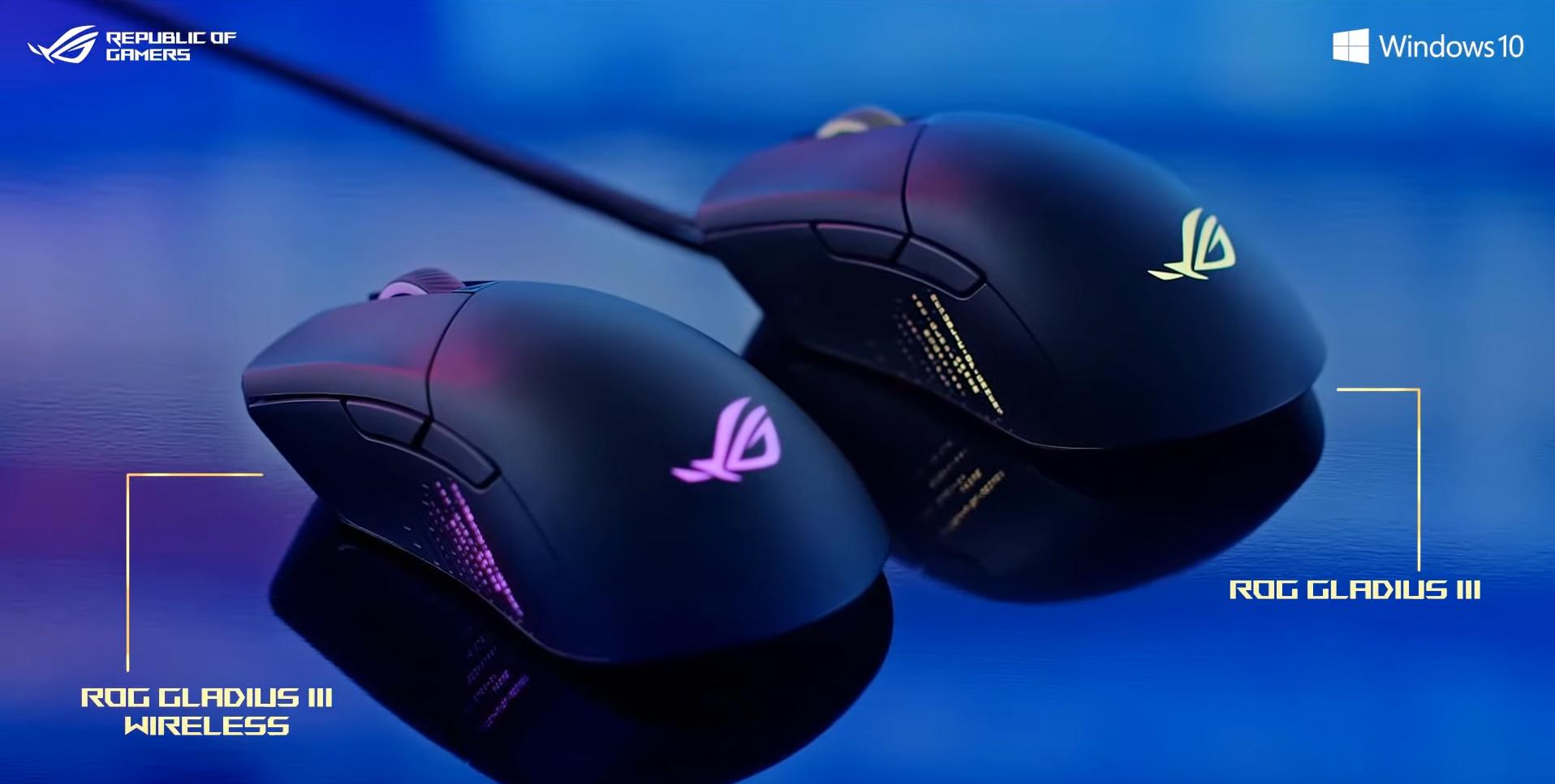 Giới thiệu Chuột không dây Asus ROG Gladius III Wireless (USB/RGB/màu đen)