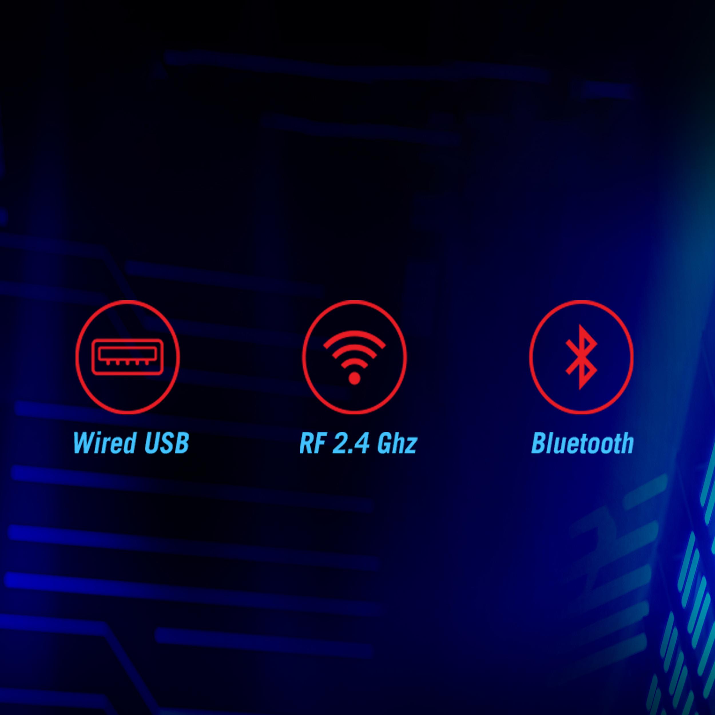 Chuột không dây Asus ROG Gladius III Wireless (USB/RGB/màu đen) có nhiều chế độ kết nối
