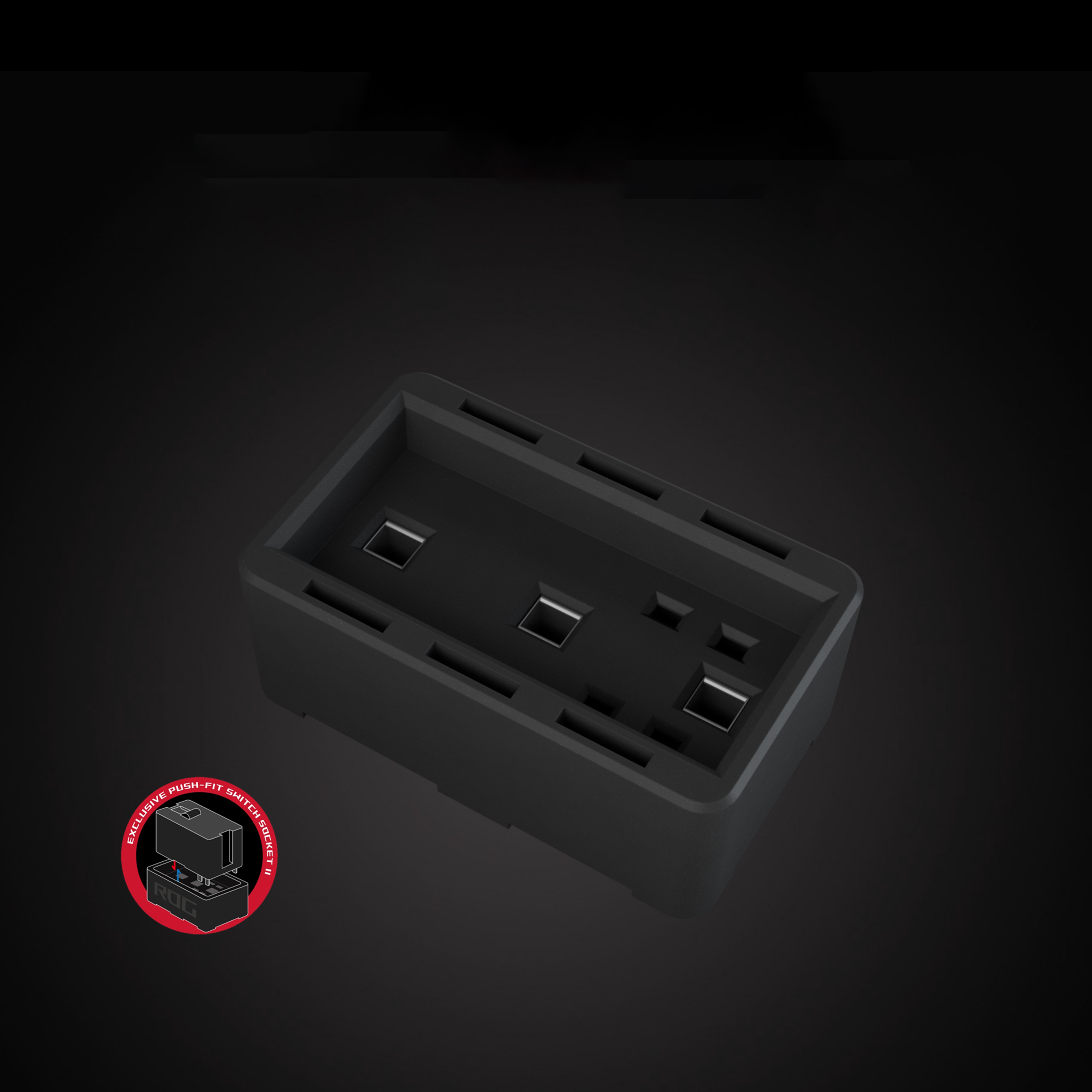 Chuột không dây Asus ROG Gladius III Wireless (USB/RGB/màu đen) trang bị socket thay switch mới