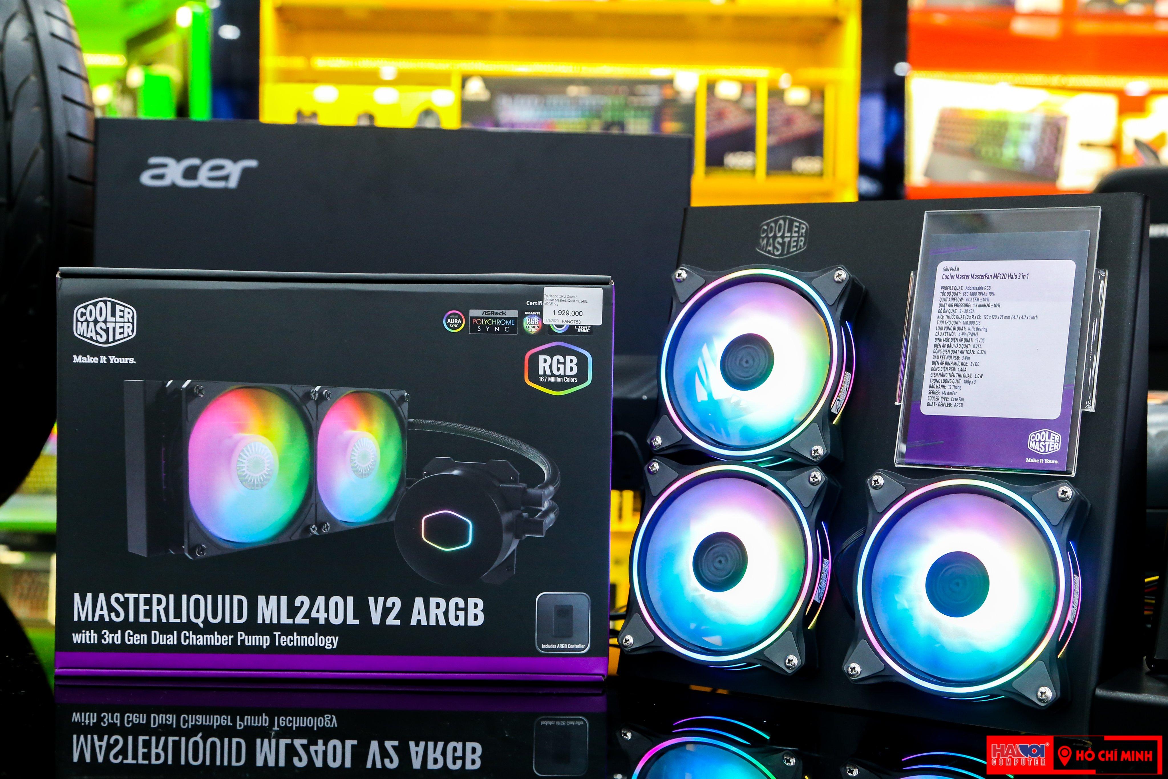Tản nhiệt nước CPU Cooler Master MasterLiQuid ML240L ARGB V2