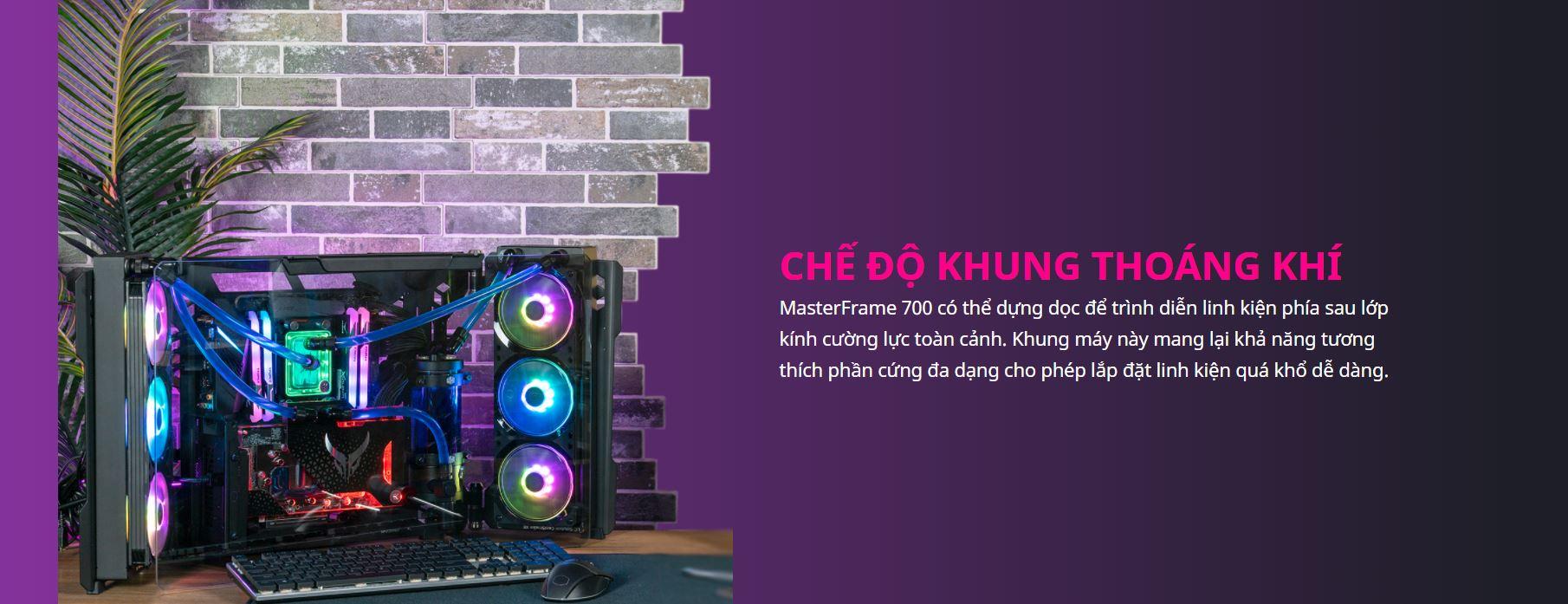 Vỏ Case Cooler Master MasterFrame 700 (Full Tower/Màu Đen) giới thiệu 3