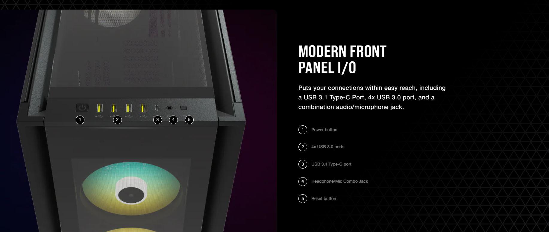 Vỏ máy tính Corsair iCUE 7000X RGB TG White giới thiệu 10