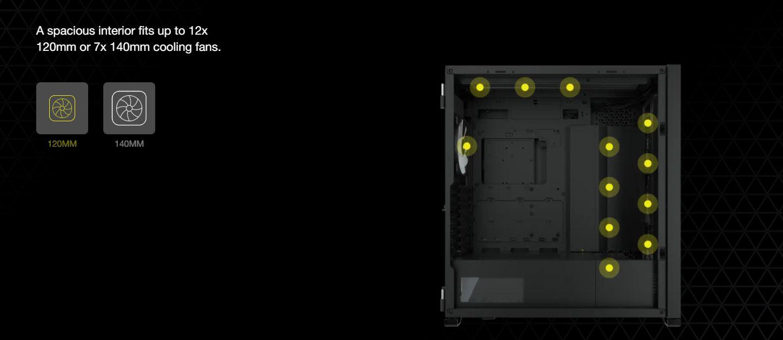 Vỏ máy tính Corsair iCUE 7000X RGB TG White giới thiệu 2