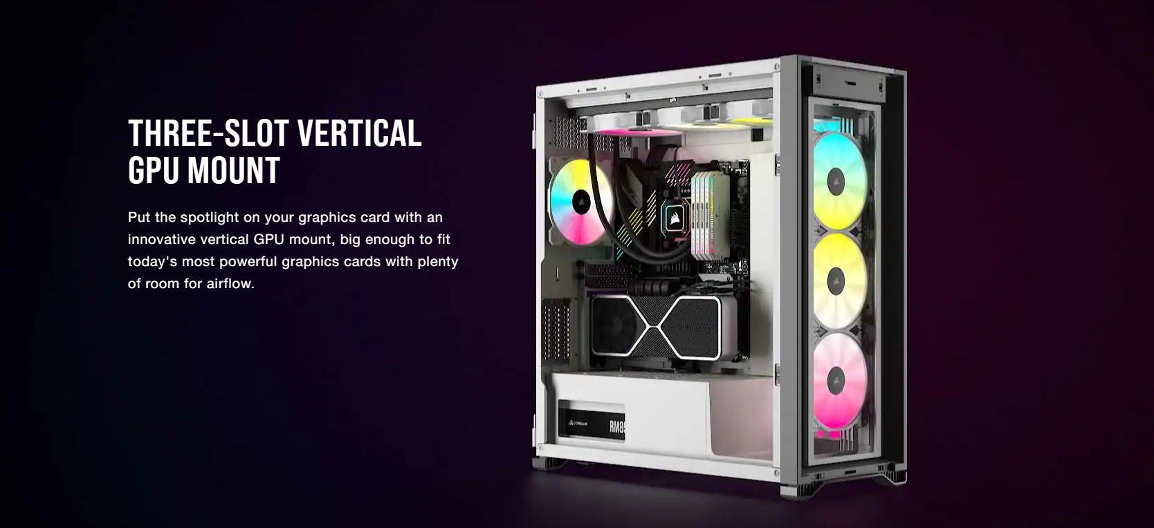 Vỏ máy tính Corsair iCUE 7000X RGB TG White giới thiệu 6