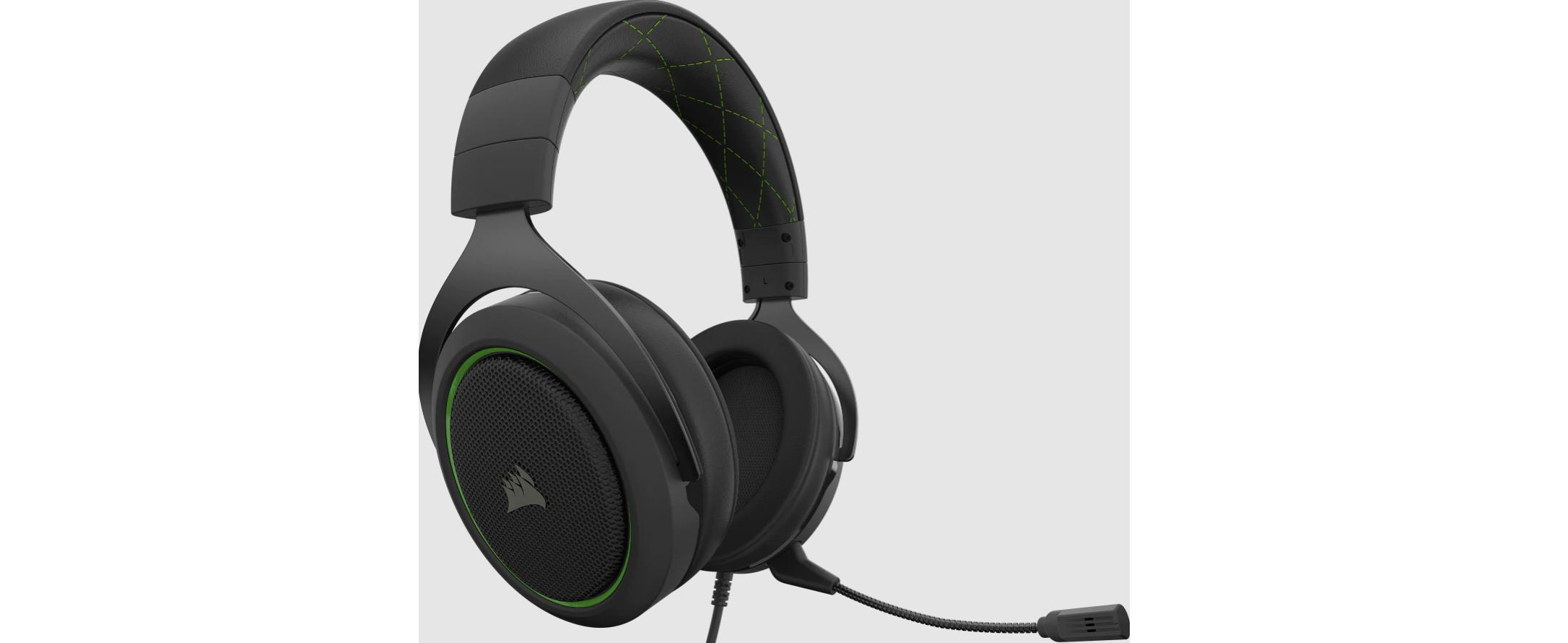 Tai nghe Gaming Corsair HS50 PRO Stereo Green trang bị màng loa cao cấp
