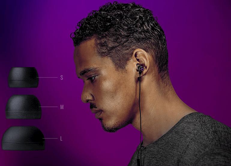Tai nghe Cooler Master MH710 Gaming Earbuds đi kèm các tips tai nghe size khác nhau