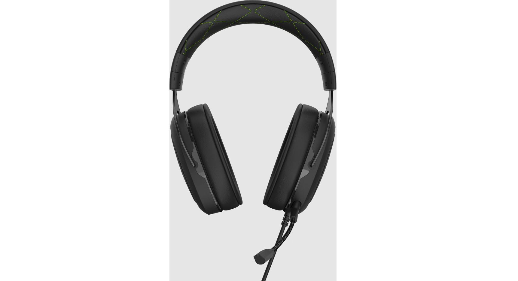 Tai nghe Gaming Corsair HS50 PRO Stereo Green được thiết kế cho sự thoải mái