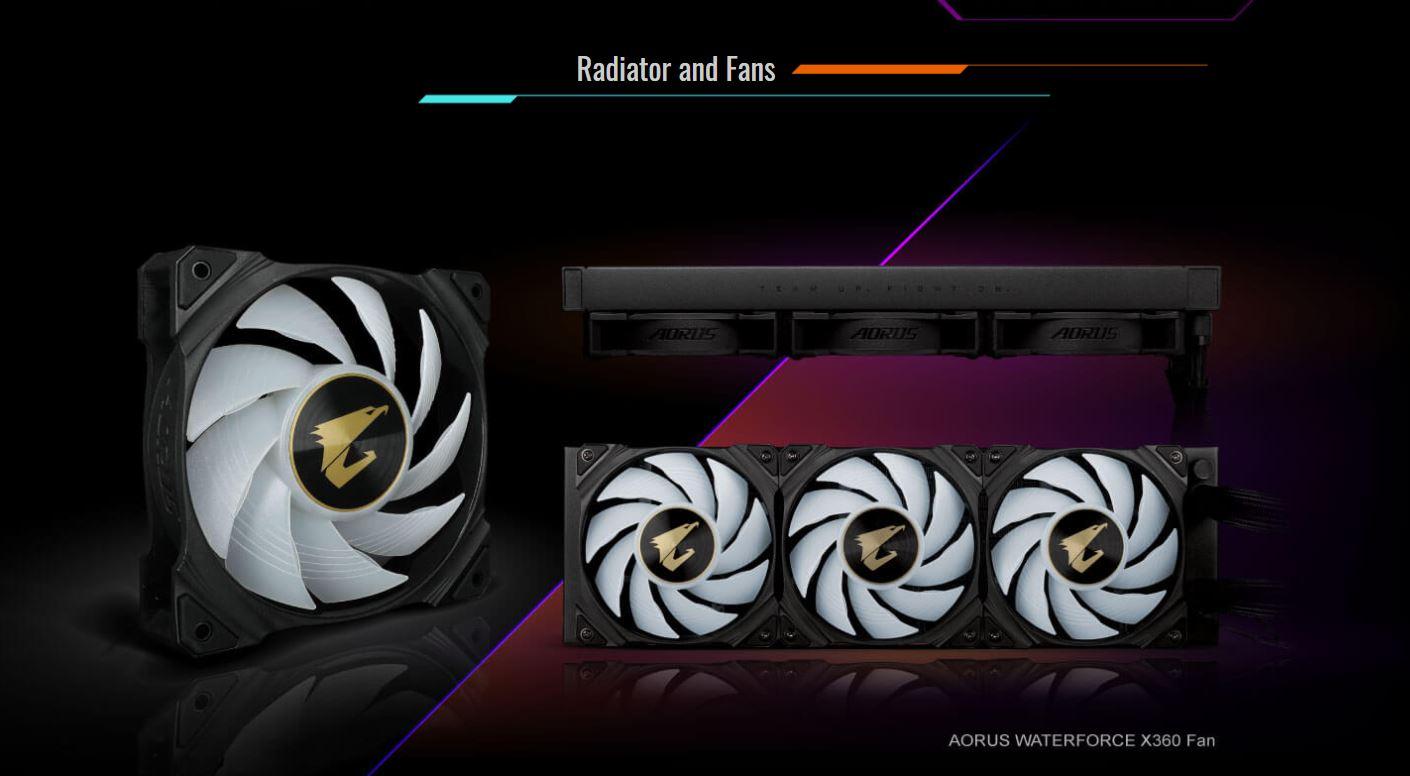 Tản nhiệt nước CPU AIO GIGABYTE AORUS WATER FORCE X 360 giới thiệu full 2