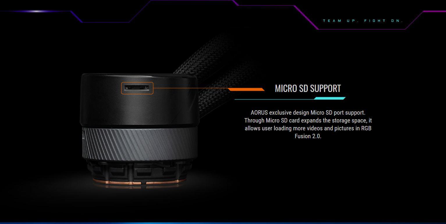 Tản nhiệt nước CPU AIO GIGABYTE AORUS WATER FORCE X 360 giới thiệu 8