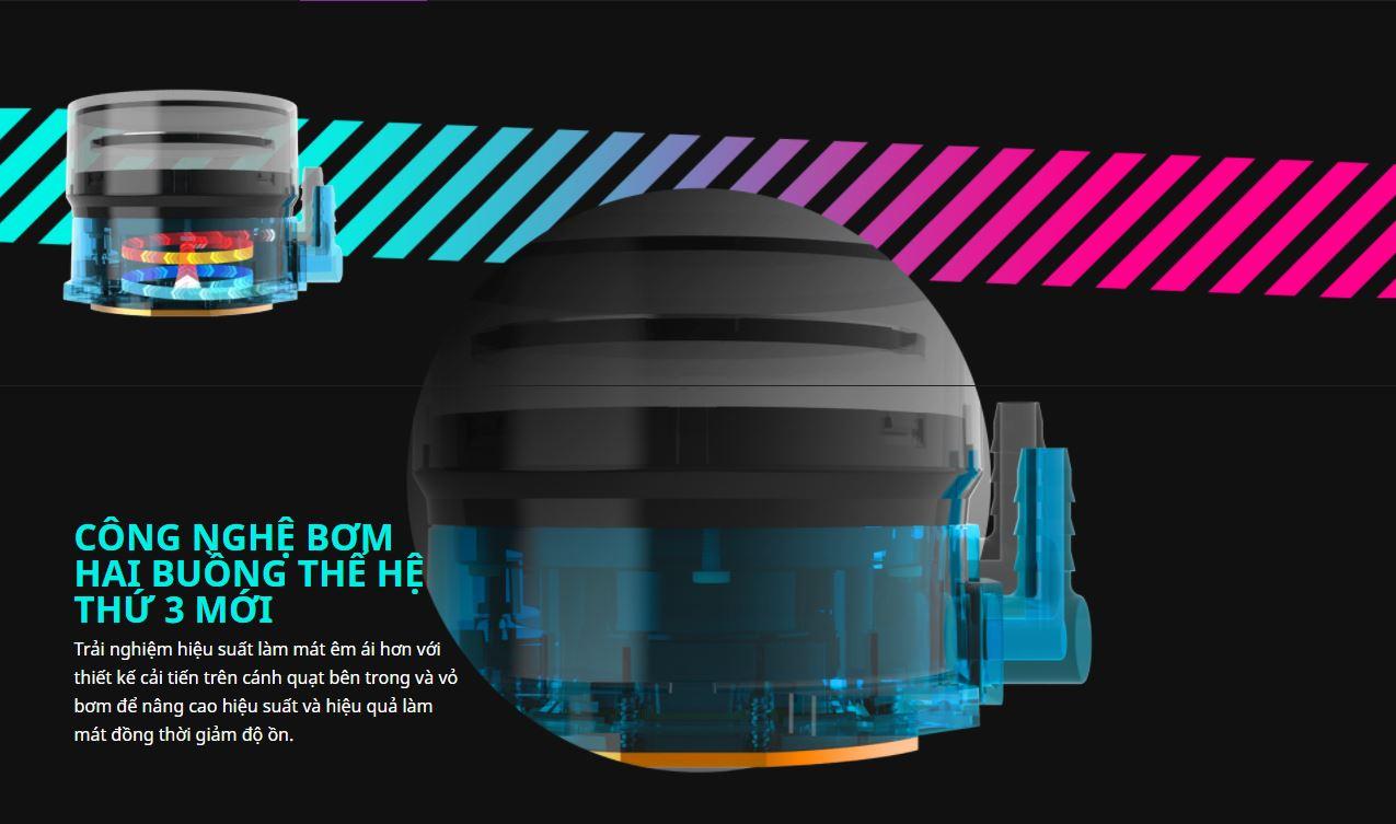 Tản nhiệt nước CPU Cooler Master MasterLiquid ML360 ILLUSION ARGB Gen2 giới thiệu 3