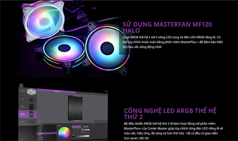 Tản nhiệt nước CPU Cooler Master MasterLiquid ML360 ILLUSION ARGB Gen2 giới thiệu 5