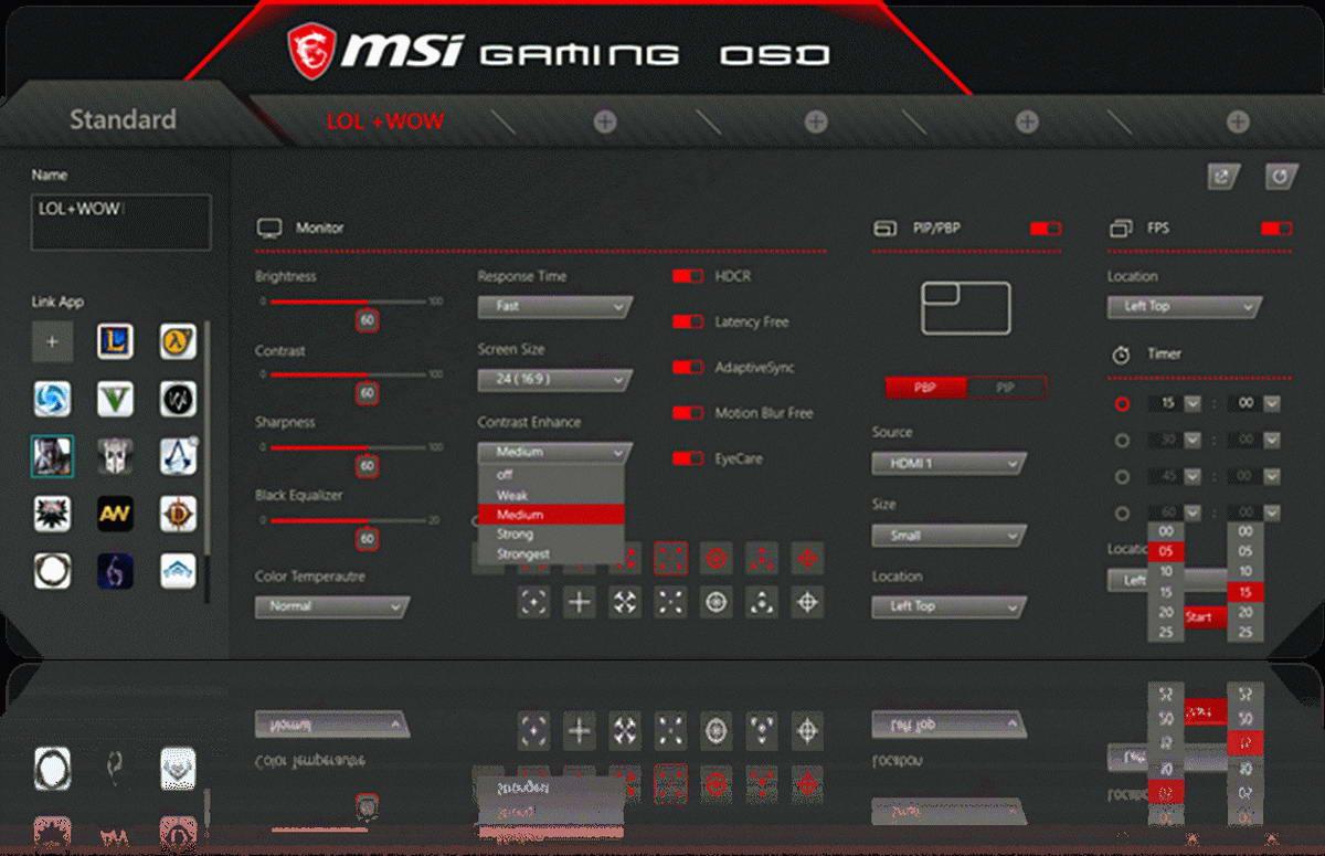 Màn hình MAG241C OSD gaming