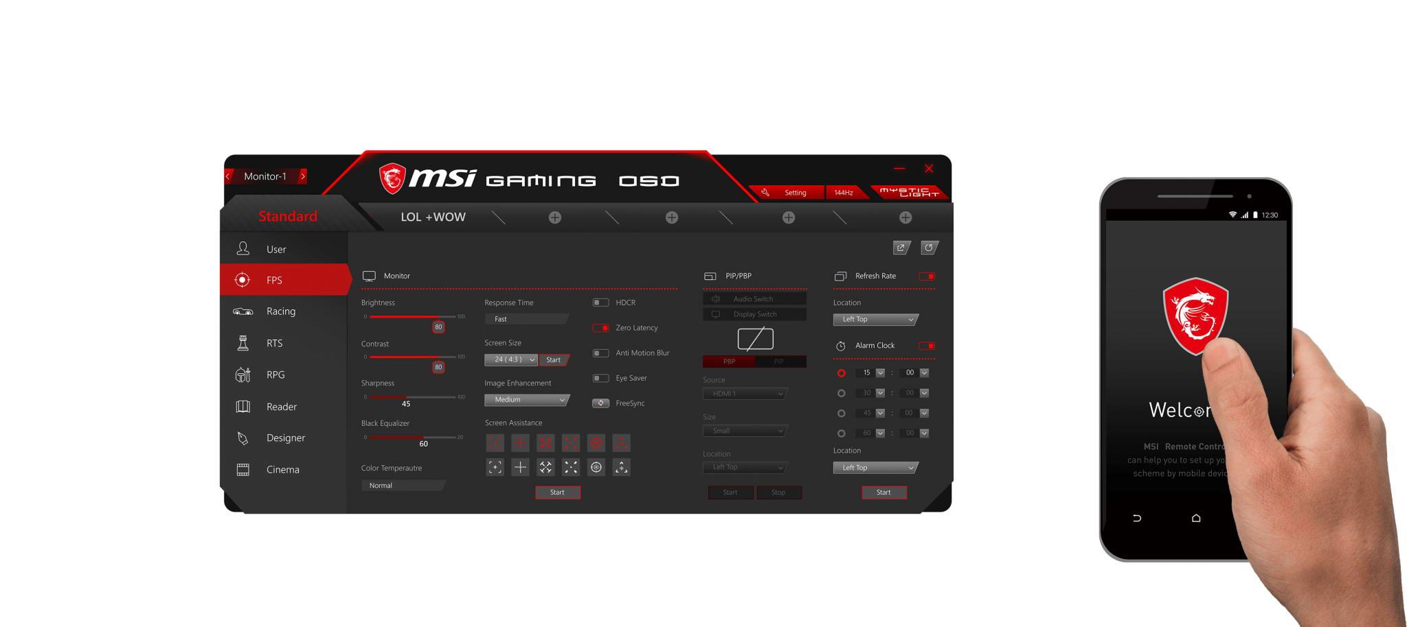Màn hình MAG241C app remote