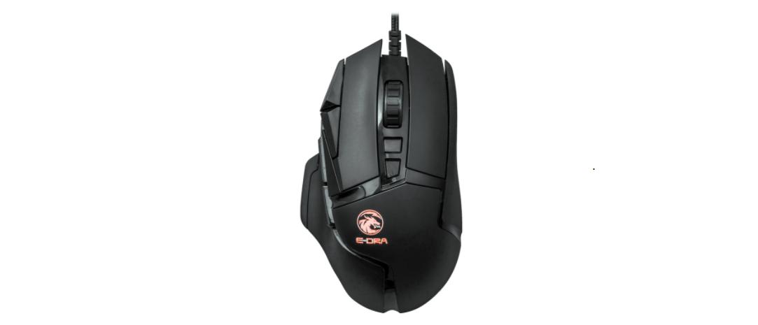Chuột chơi game E-Dra EM6502 có thiết kế ergonomic quen thuộc