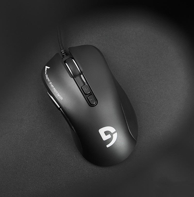 Chuột Fuhlen G90 Optical Black USB có  thiết kế công thái hcoj quen thuộc