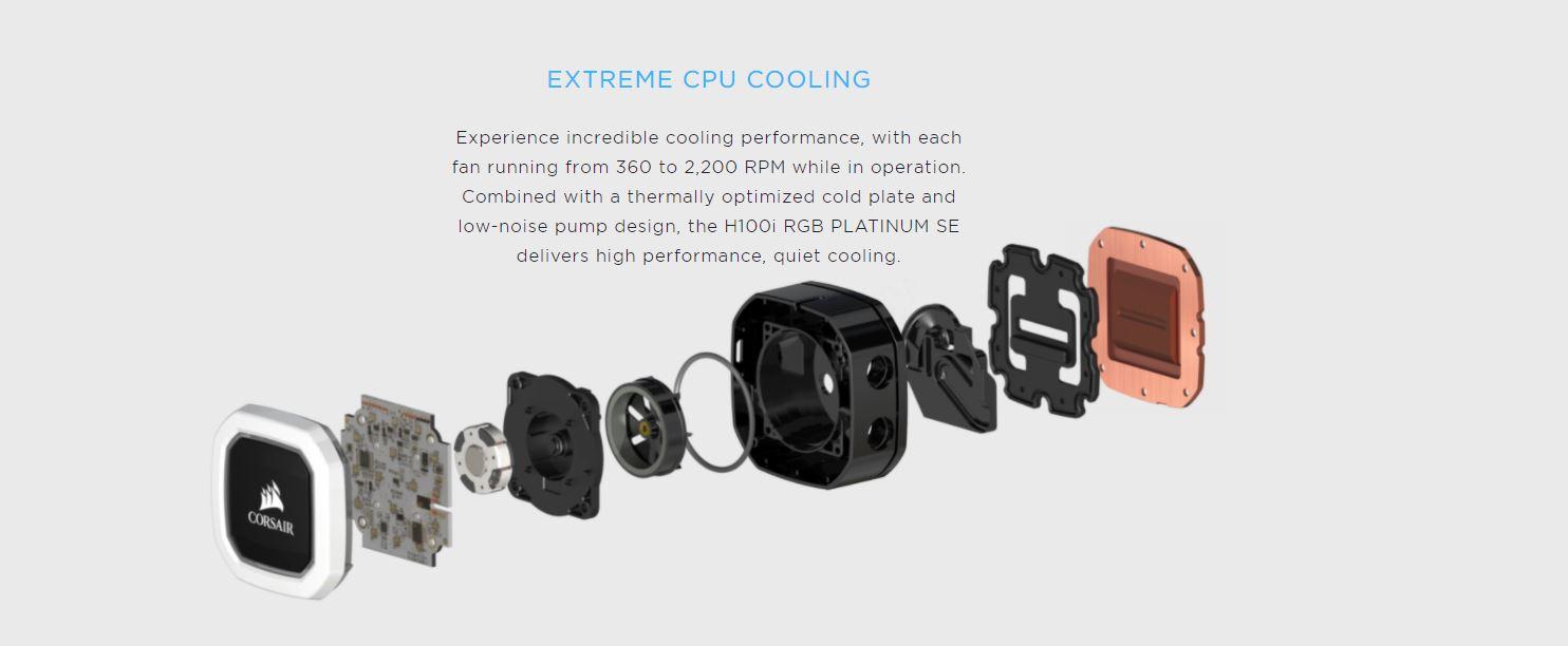 Tản nhiệt nước Corsair Hydro Series H100i RGB PLATINUM SE giới thiệu 6