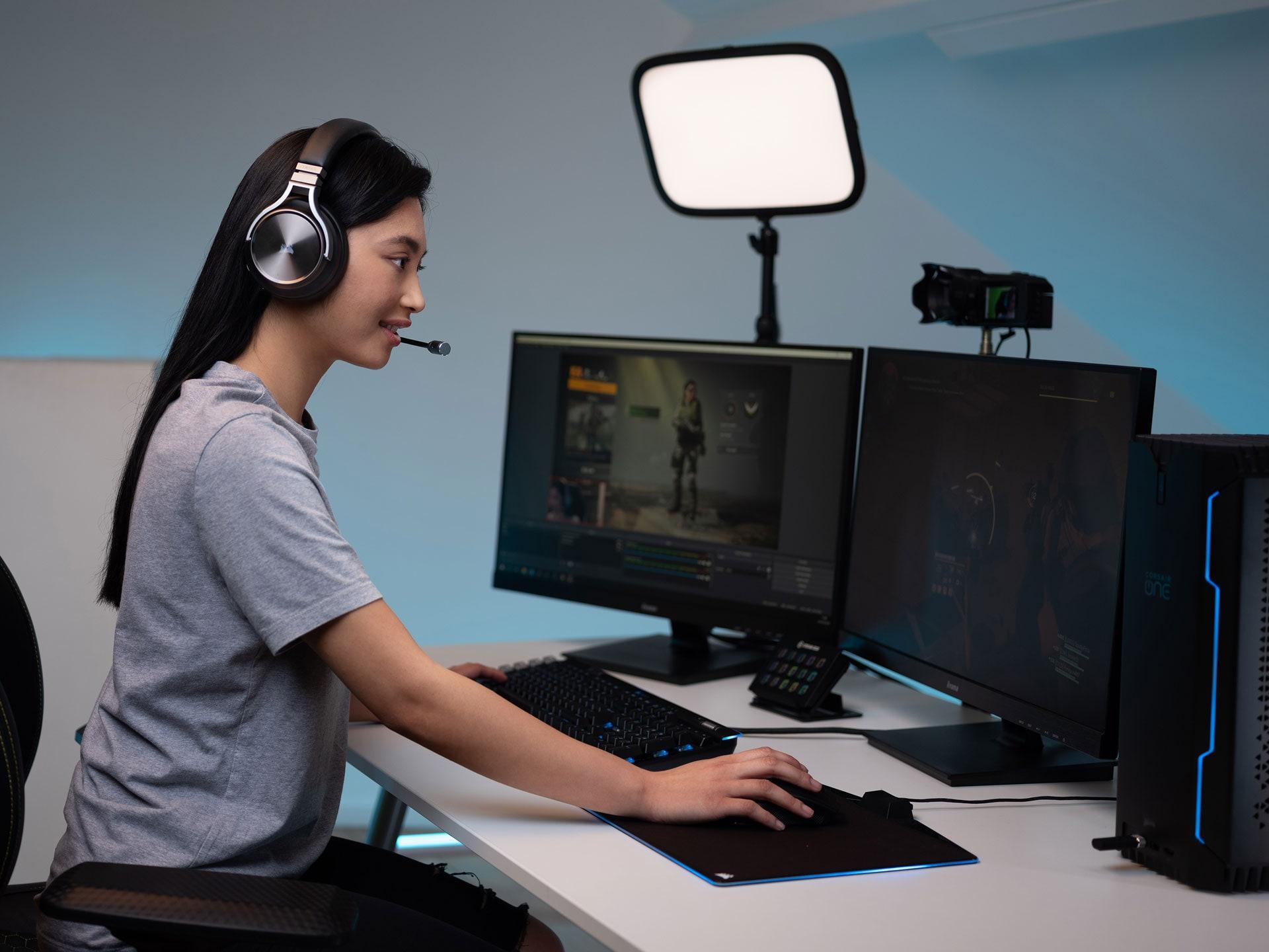Tai nghe không dây Gaming Corsair Virtuoso RGB SE Gunmetal (CA-9011180-AP) được chứng nhận bởi Discord