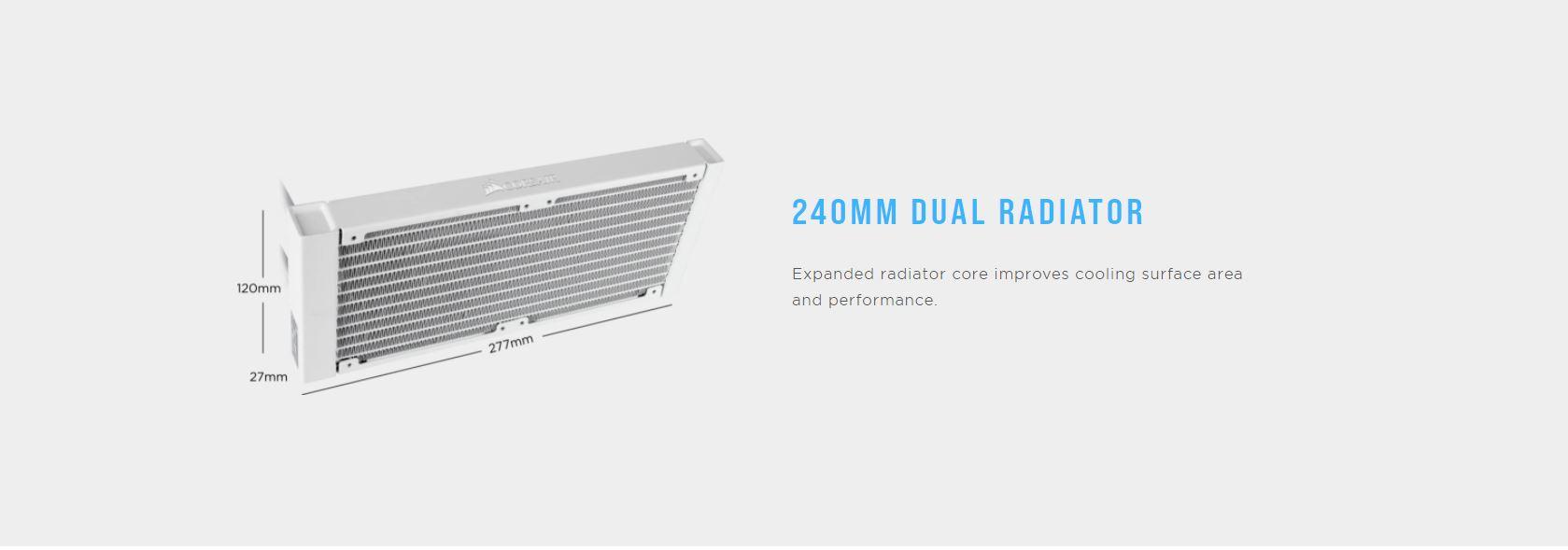 Corsair Hydro Series H100i RGB PLATINUM radiator
