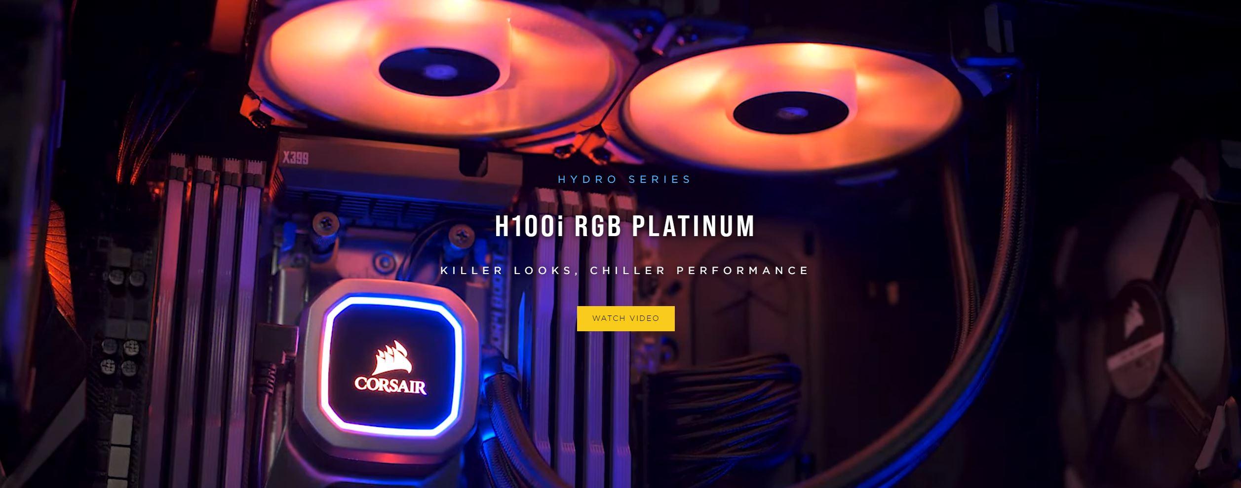 Tản nhiệt nước Corsair Hydro Series H100i RGB PLATINUM  giới thiệu