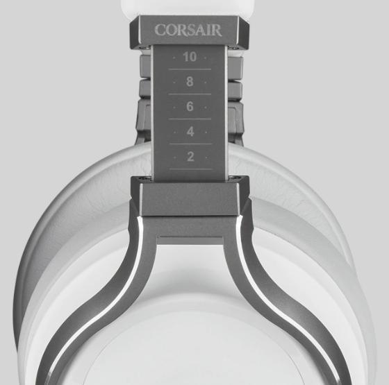Tai nghe không dây Gaming Corsair Virtuoso RGB White (CA-9011186-AP) có thiết kế bền bỉ, chắc chắn