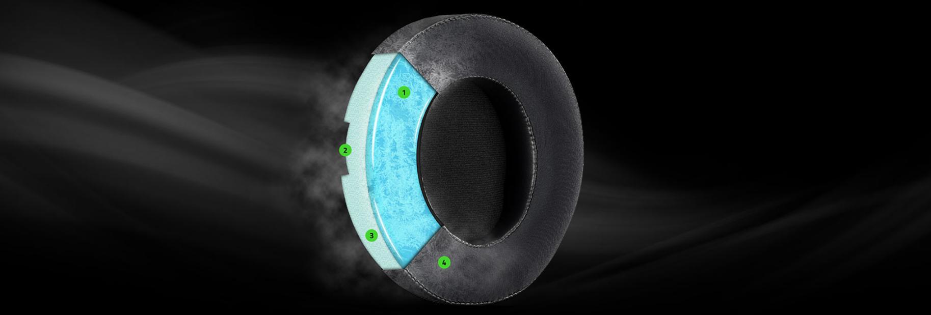 Tai nghe Razer Kraken Multi-Platform Wired Mercury RZ04-02830400-R3M1 đeo thoải mái hàng giờ