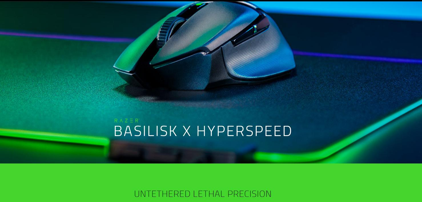 Chuột chơi game Razer Basilisk X HyperSpeed Wireless Black (RZ01-03150100-R3A1)