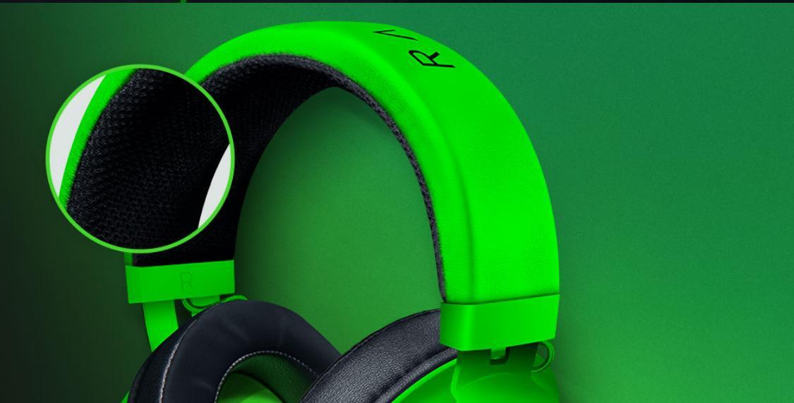 Tai nghe Razer Kraken Multi Platform Wired Gaming Headset Quartz RZ04-02830300-R3M1 có thiết kế headband dày dặn
