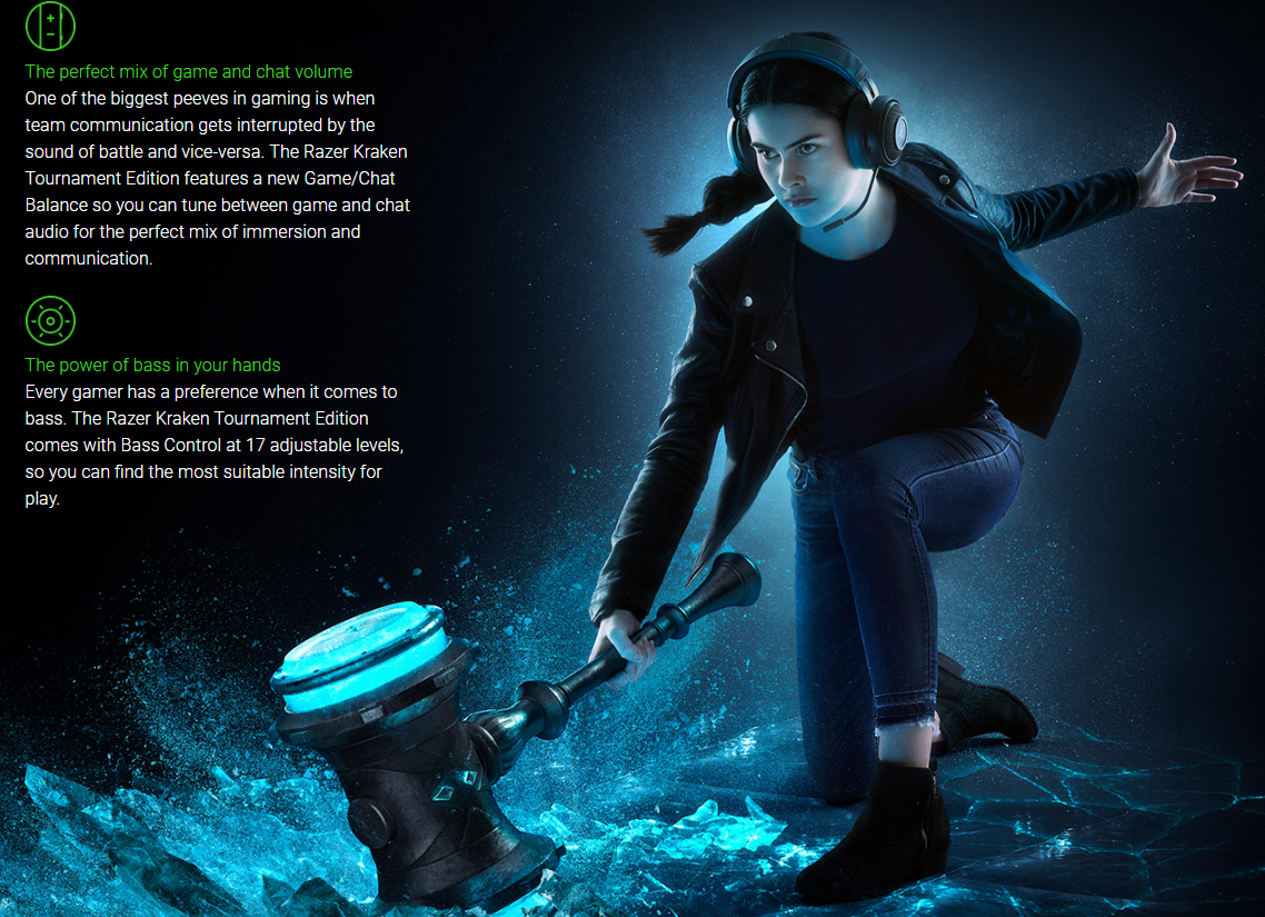 Tai nghe Razer Kraken Tournament Edition Wired Gaming Headset Black RZ04-02051000-R3M1 2