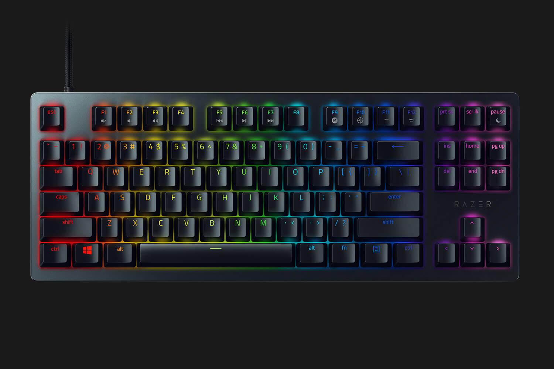 Bàn phím cơ Razer Huntsman Tournament Edition RGB Chroma Razer Optical Linear switch Black (RZ03-03080100-R3M1) có thiết kế tkl