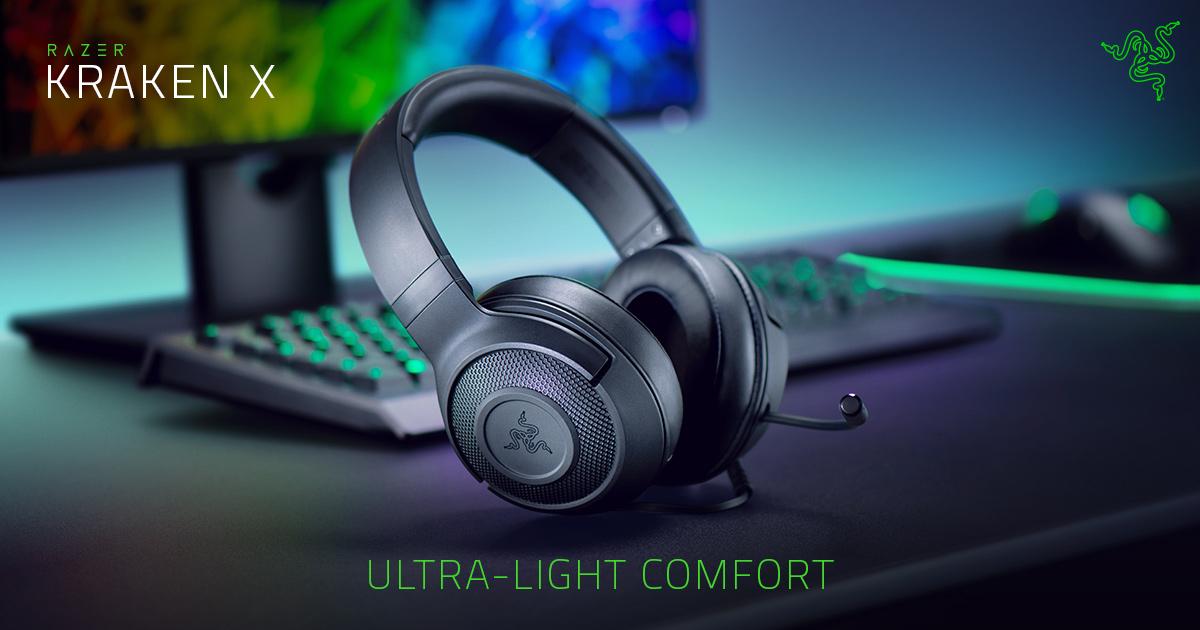 Tai nghe Razer Kraken X USB Black (RZ04-02960100-R3M1) thích hợp cho gaming